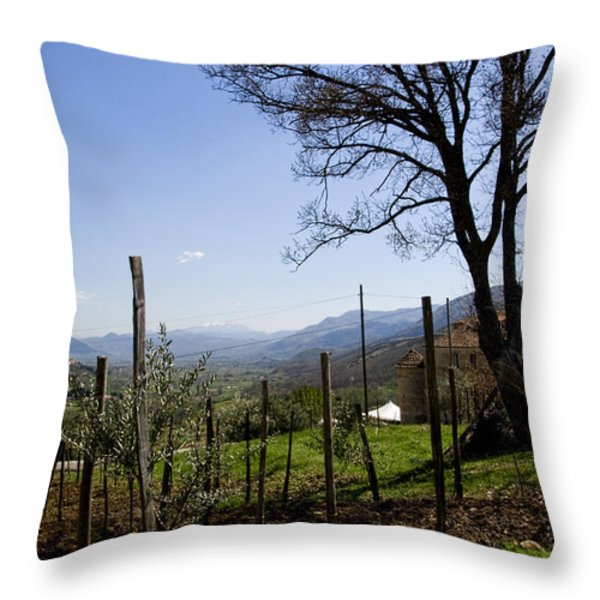 Southern Italian Life Throw Pillow by Michelle Sheppard