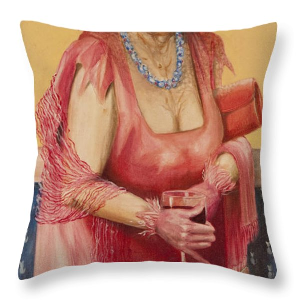 Southern Rose Throw Pillow by Shelly Wilkerson