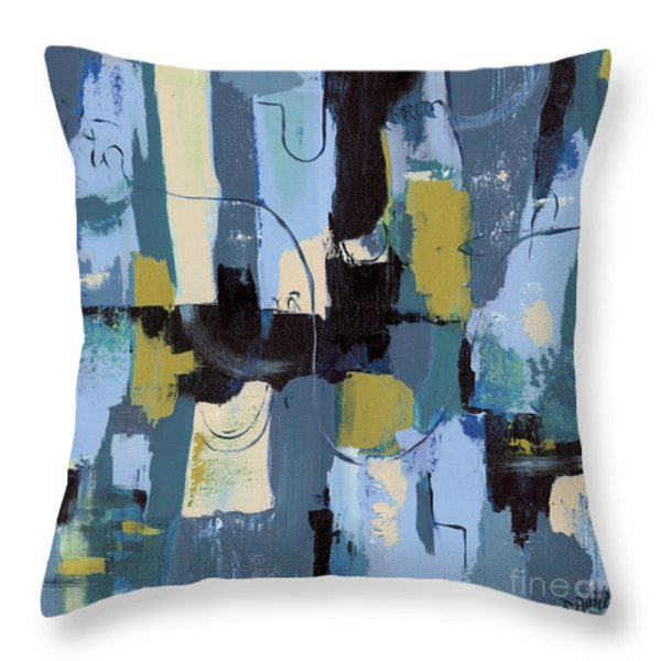 Spa Abstract 2 Throw Pillow by Debbie DeWitt