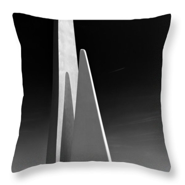 Space Port Throw Pillow by Dave Bowman
