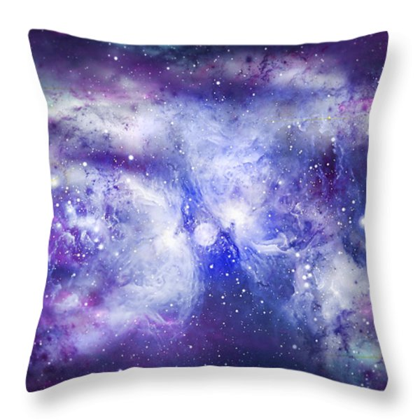 Space009 Throw Pillow by Svetlana Sewell