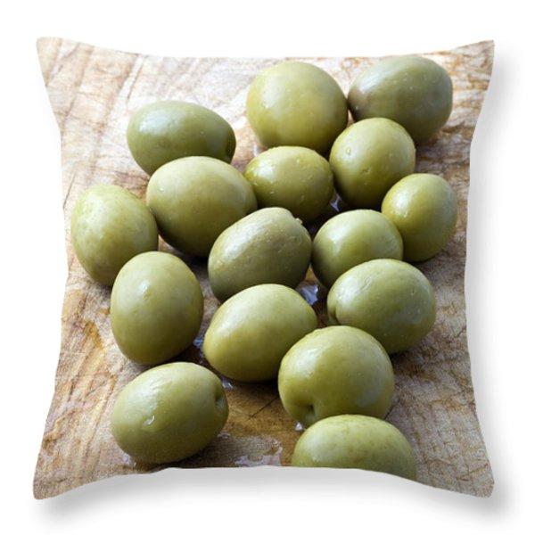 Spanish Manzanilla Olives Throw Pillow by Frank Tschakert