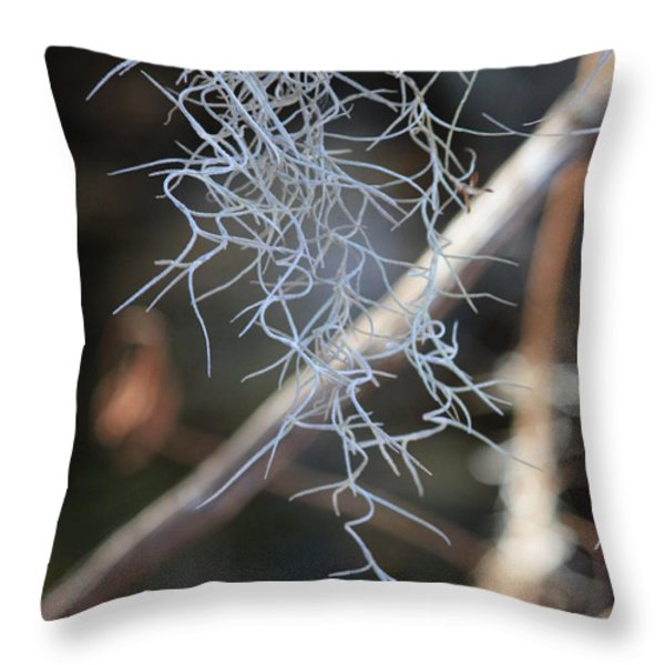 Spanish Moss Throw Pillow by Carol Groenen