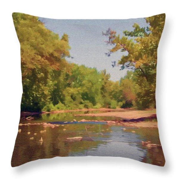 Spavinaw Creek Throw Pillow by Jeff Kolker