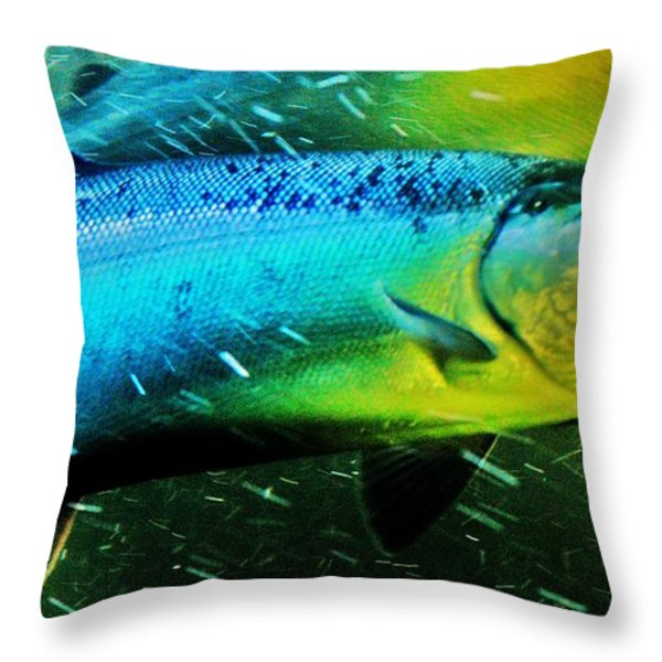 Spawning Home Throw Pillow by Frank Larkin