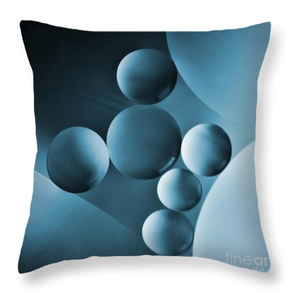 Spheres Throw Pillow by Elena Nosyreva