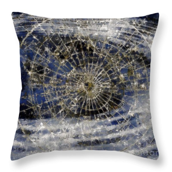 Spinning Away Throw Pillow by RC DeWinter