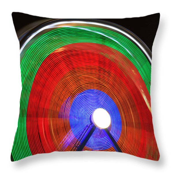 Spinning Wheels Throw Pillow by James BO  Insogna