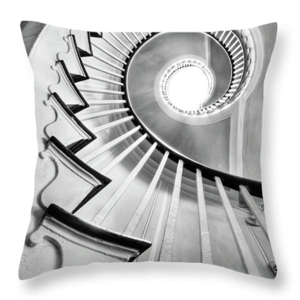 Spiral Staircase Lowndes Grove  Throw Pillow by Dustin K Ryan