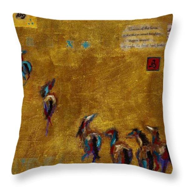 Spirit Horses Throw Pillow by Frances Marino
