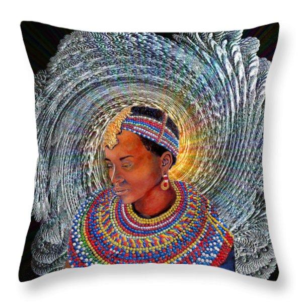 Spirit Of Africa Throw Pillow by Michael Durst