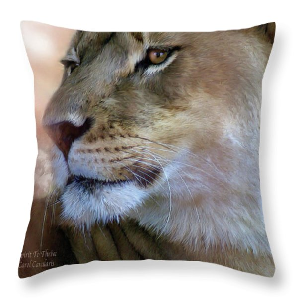 Spirit To Thrive Throw Pillow by Carol Cavalaris