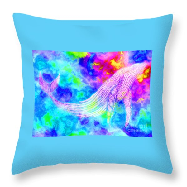Spirit Whale 3 Throw Pillow by Nick Gustafson