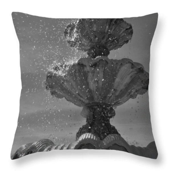 Splash I Throw Pillow by Anna Villarreal Garbis