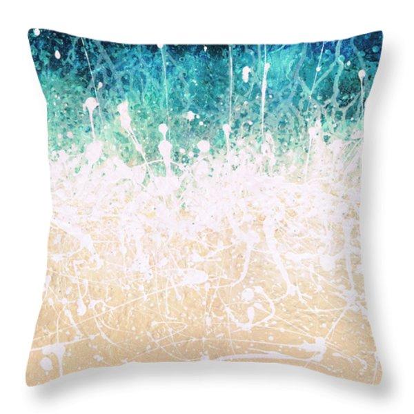 Splash Throw Pillow by Jaison Cianelli
