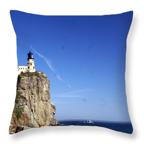 Split Rock 1 Throw Pillow by Marty Koch