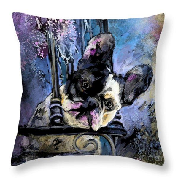 Spok Throw Pillow by Miki De Goodaboom