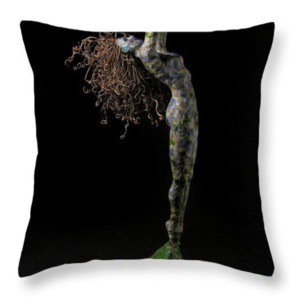 Spring a sculpture by Adam Long Throw Pillow by Adam Long