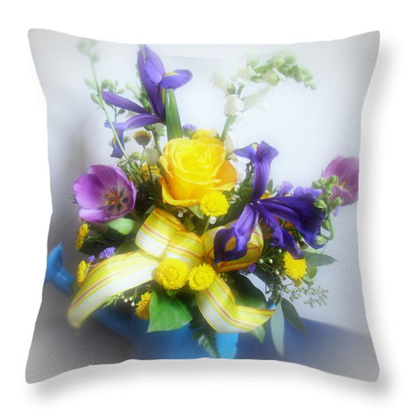 Spring Bouquet Throw Pillow by Sandy Keeton