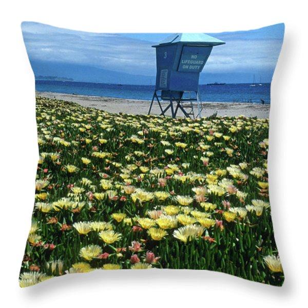 Spring Break Santa Barbara Throw Pillow by Kathy Yates