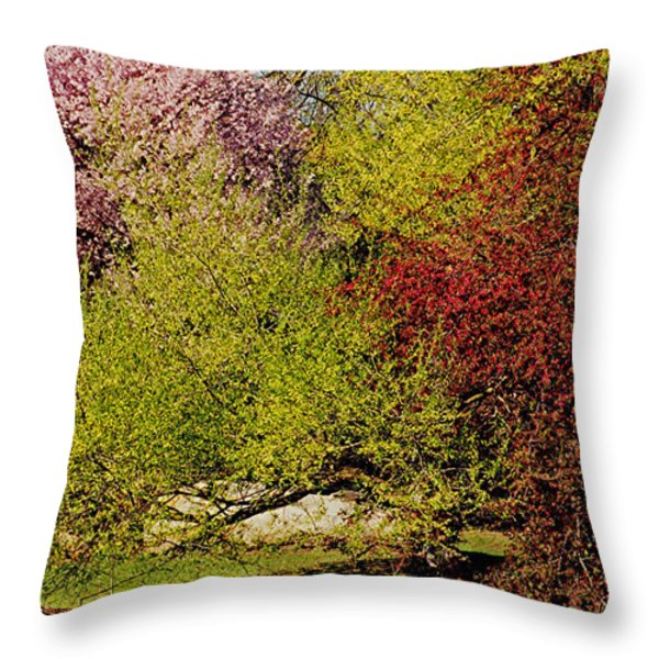 Spring Colors Throw Pillow by Juergen Roth
