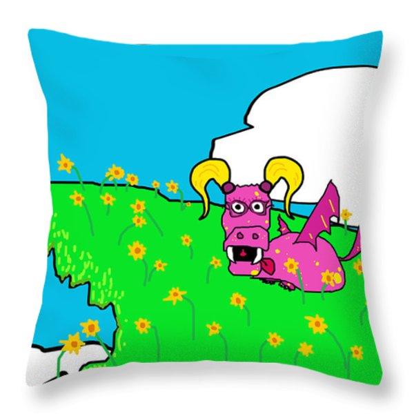 Spring Time Throw Pillow by Jera Sky