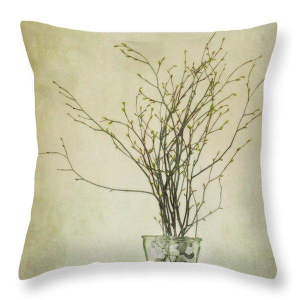 spring unfolds Throw Pillow by Priska Wettstein