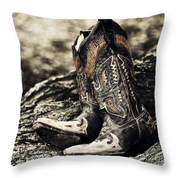 Square Toes Throw Pillow by Scott Pellegrin