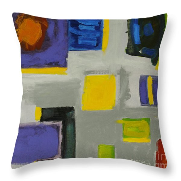 Squares Throw Pillow by Katie OBrien - Printscapes