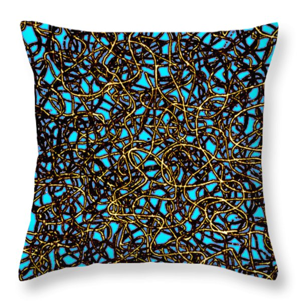 Squiggle 6 Throw Pillow by Andy  Mercer