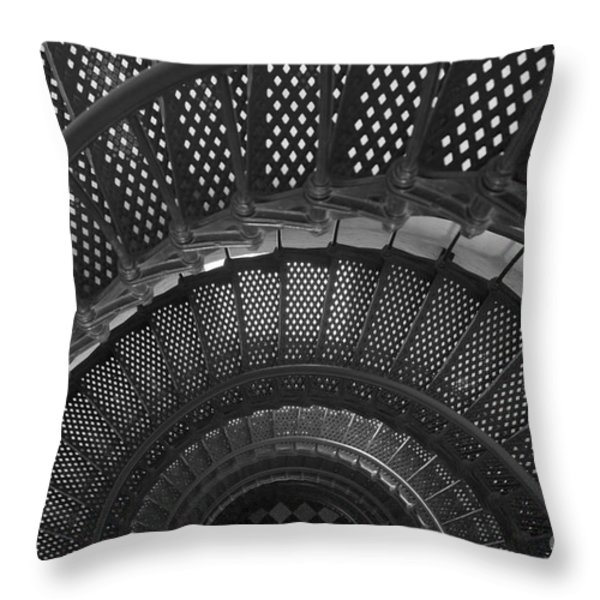 St. Augustine Lighthouse Spiral Staircase I Throw Pillow by Clarence Holmes