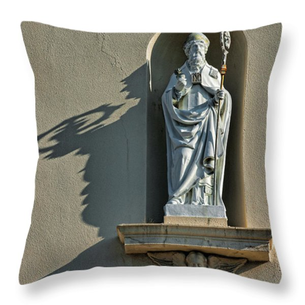 St. Augustine of Hippo Throw Pillow by Christopher Holmes