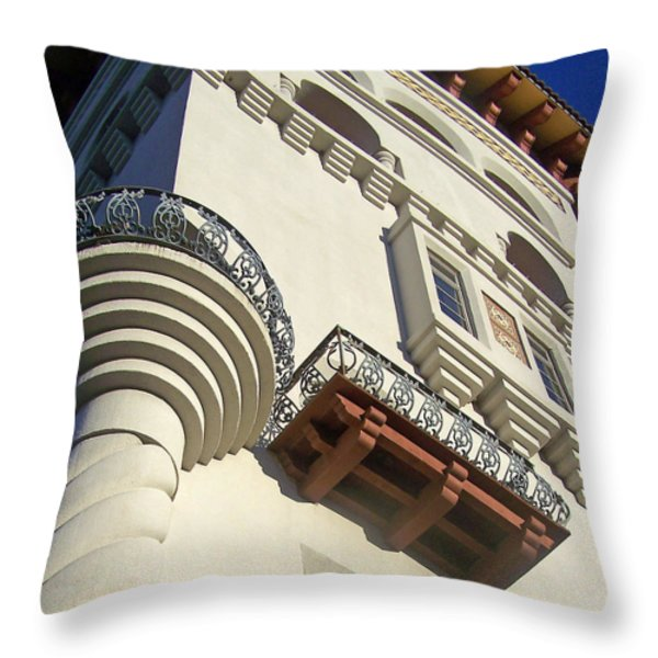 St. Augustine Spanish Colonial Ornate Throw Pillow by Patricia Taylor