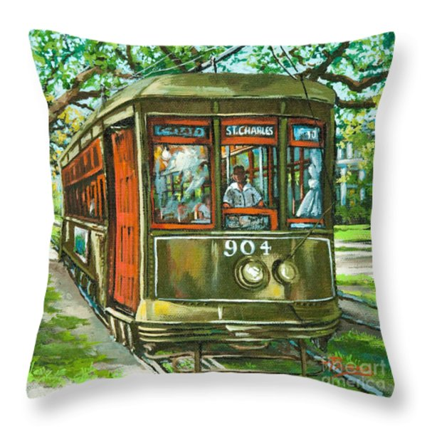 St. Charles No. 904 Throw Pillow by Dianne Parks