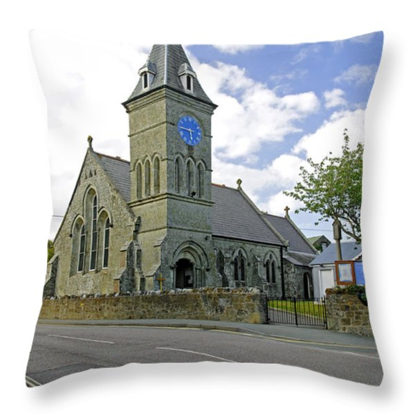 St John The Evangelist Church at Wroxall Throw Pillow by Rod Johnson