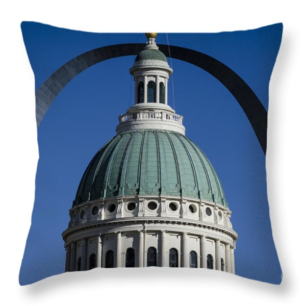 St. Louis Arch Throw Pillow by Andrea Silies