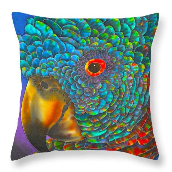 St. Lucian Parrot Throw Pillow by Daniel Jean-Baptiste