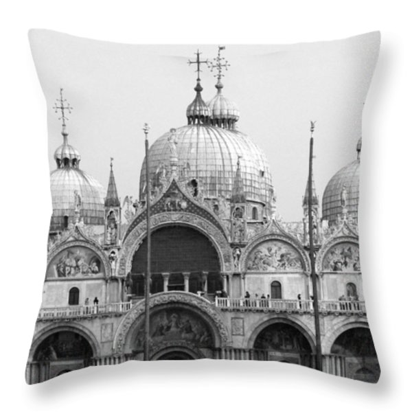 St. Marks Throw Pillow by Donna Corless