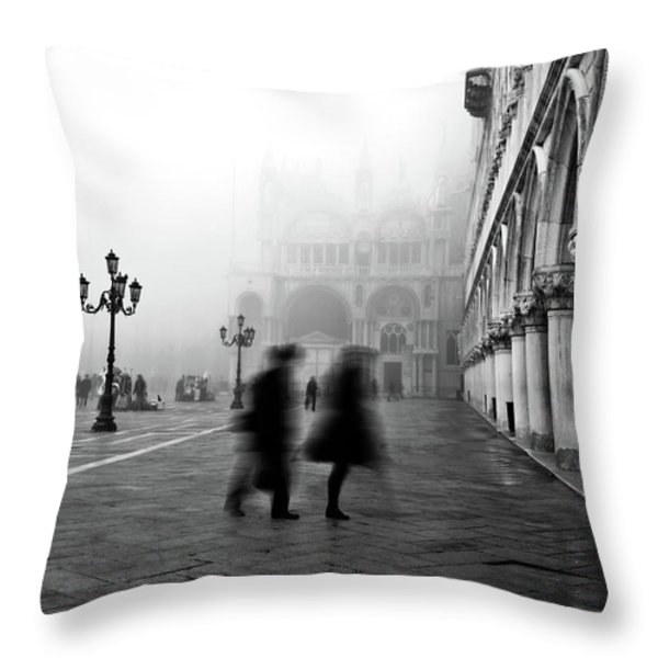 St Mark's Square Throw Pillow by Marion Galt