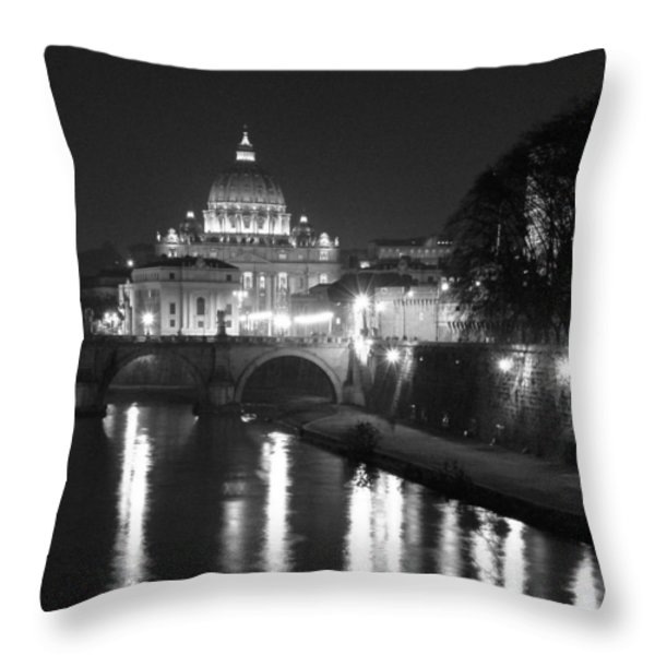 St. Peters at Night Throw Pillow by Donna Corless