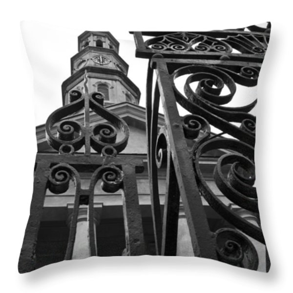 St. Philips Church Throw Pillow by Dustin K Ryan