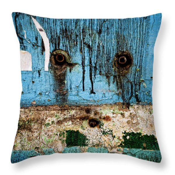 Stained And Weary Throw Pillow by Michelle Sheppard