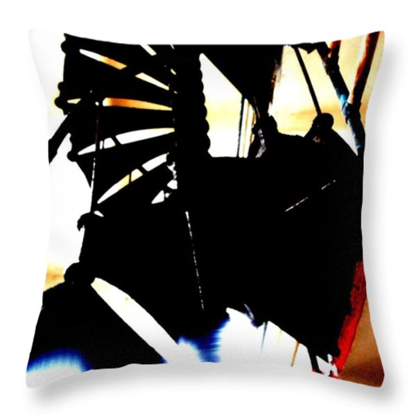 Stairs to Freedom Throw Pillow by Mike Grubb