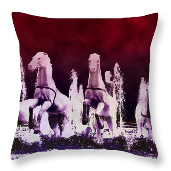 Stampede Throw Pillow by Bill Cannon