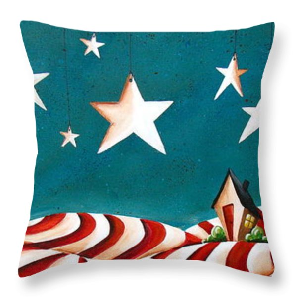 Star Spangled Throw Pillow by Cindy Thornton