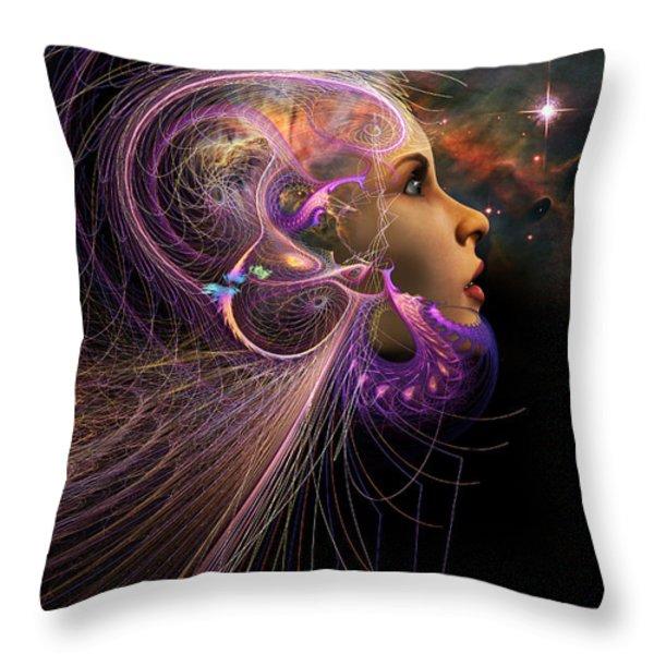 Starborn Throw Pillow by John Edwards