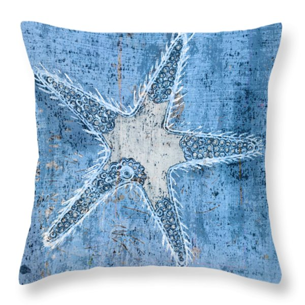 Throw Pillow featuring the painting Starfish by Frank Tschakert