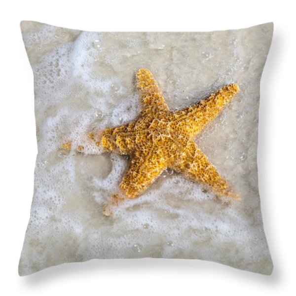 Starfish Throw Pillow by Janet Fikar