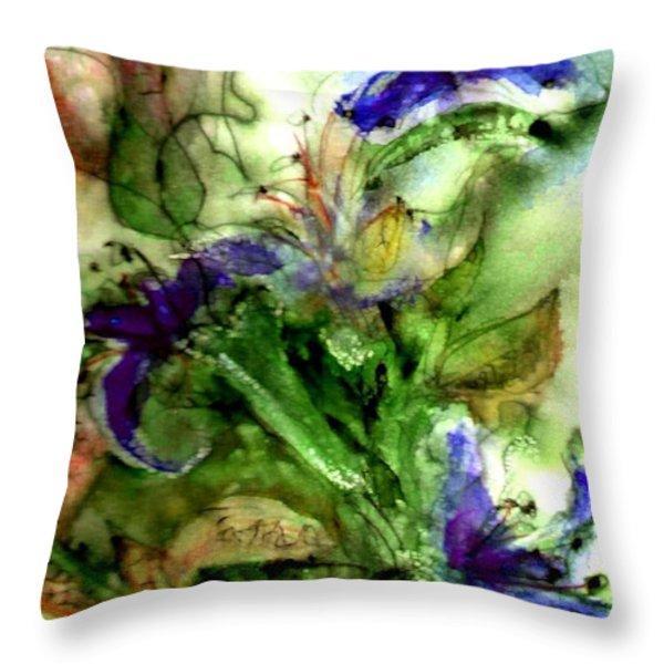 Starflower Throw Pillow by Anne Duke