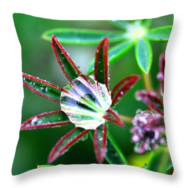 Starry Droplets Throw Pillow by Marie Jamieson